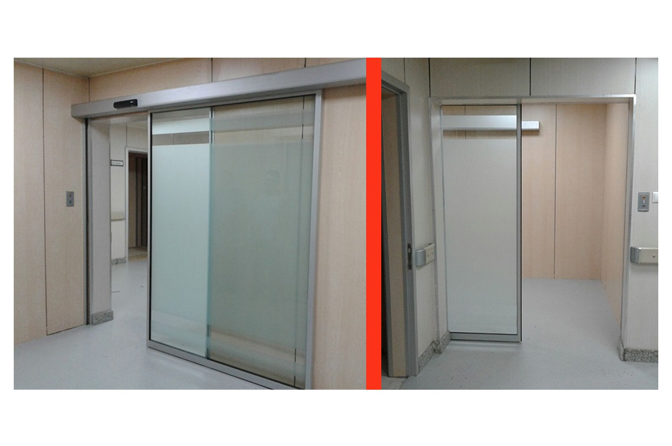 Automatic sliding door installed at National Oncology Center.